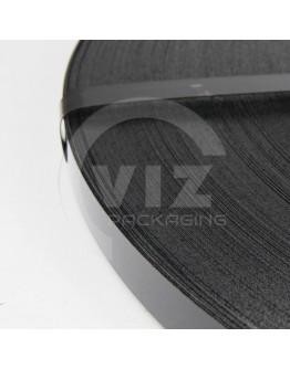 Staalband enkelvoudig 12,7/0,5mm zwart gelakt