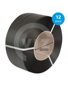 PP strapping black 12mm/0.55mm/3000m