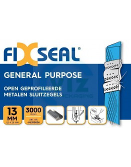 Metalen sluitzegels FIXSEAL open geprofileerd 13mm, 3000st.