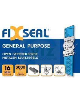 Metalen sluitzegels FIXSEAL open geprofileerd 16mm, 3000st.