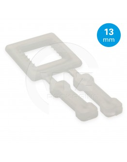 FIXCLIP plastic buckles transparent 13mm, 1000pcs