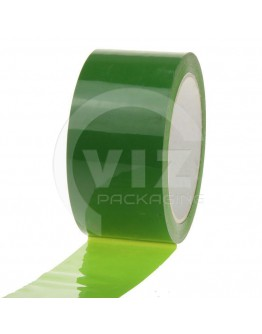 PP acrylic tape 50mm/66m Green Low-noise