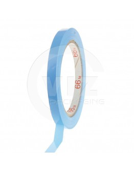 PVC solvent tape blauw 9mm/66m