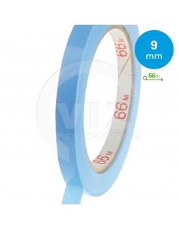 PVC Solvent Tape Bleu 9mm for bag sealer