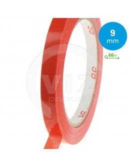 PVC tape red 9mm for bag sealers