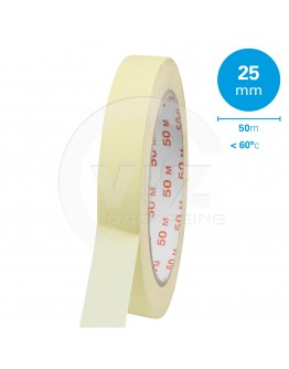 Masking tape 25mm/50m 60°C
