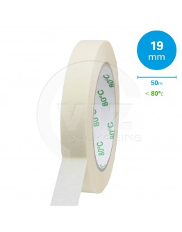 Masking tape Extra 19mm/50m 80°C Solvent
