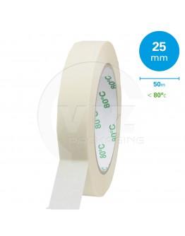 Masking tape Extra 25mm/50m 80°C