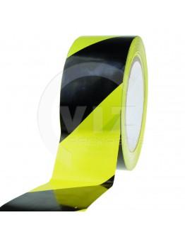 Floor marking tape PVC yellow/black 50mm/33m 150my