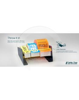 Label dispenser metal 3-zones 165mm