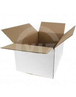 Cardboard box M1 Fefco-0201 white 290x190x150mm