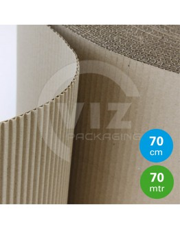 Currugated paper roll 75cm/70m