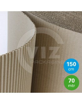 Currugated paper roll 150cm/70m
