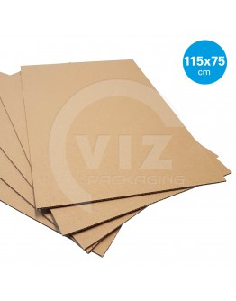 Currugated cardboard sheets 115 x 75 cm