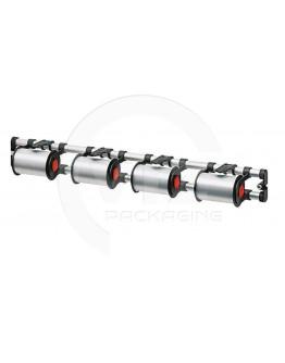 Vario ribbon dispenser for 4 rolls