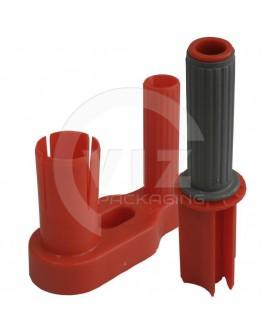 Plastic stretch film dispenser 2-parts