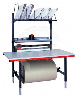 Packing table SYSTEM 1600 with add-on cutter.