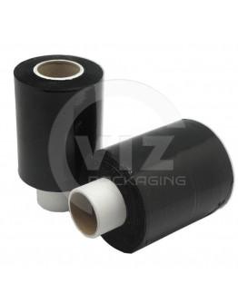 Mini-stretch film rolls black 23µm / 100mm / 150m