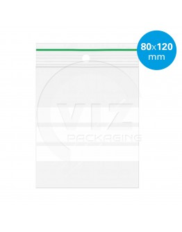Grip seal bags 80x120mm writable