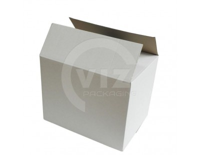 Cardboard box E Fefco-0201 white 400x285x315mm Cardboars, Boxes & Paper