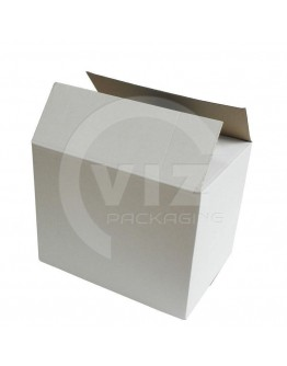 Cardboard box E Fefco-0201 white 400x285x315mm