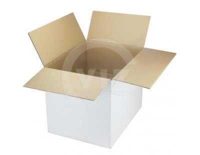 Cardboard box G Fefco-0201 white 420x320x320mm Cardboars, Boxes & Paper