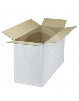 Cardboard box C Fefco-0201 white 533x196x287mm