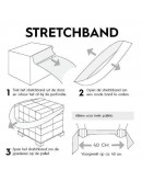 Elastisch stretchband voor pallets box 100st. Rekwikkelfolie