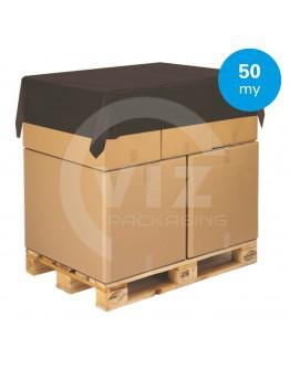 Topvellen zwart- Afdekfolie pallets 150 x 180cm, 30my