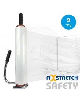 Wikkelfolie Fixstretch Safety 9µ / 45cm / 300mtr transparant handrollen