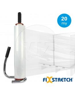 Wikkelfolie Fixstretch  20µ / 50cm / 300mtr transparant handrollen