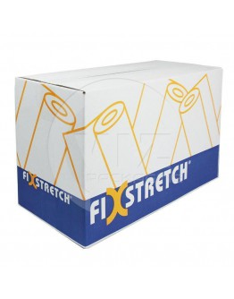 Wikkelfolie Fixstretch zwart 20µ / 50cm / 300mtr handrollen