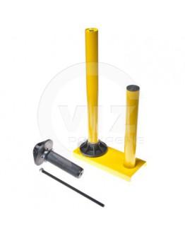 Stretch film dispenser metal yellow SR50
