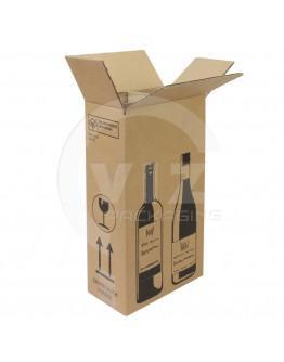 Wine bottle box for 2 bottles 204x108x368mm
