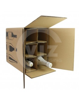 Wine shipping box for 6 bottles 305x212x368mm