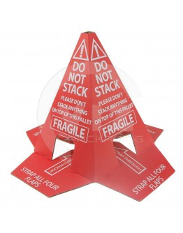 "Pallet cone ""Do not stack"" Adhesive"