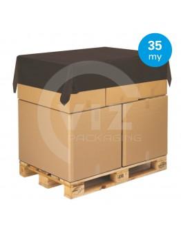 Topvellen zwart - Afdekfolie pallets 150 x 180cm / 35µ