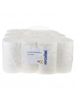 Towel paper rolls  FIX-HYGIËNE Mini coreless cellulose, 120m - 12 rolls