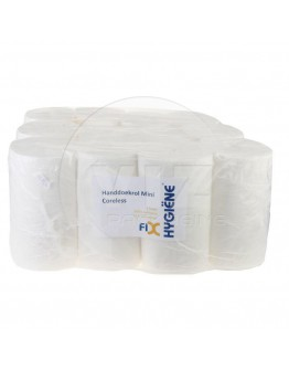 Handdoekrol FIX-HYGIËNE Mini coreless cellulose, 120m - 12 rollen