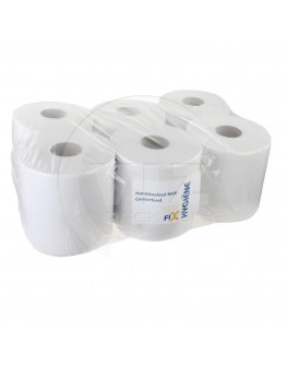 Towel paper rolls  FIX-HYGIËNE Midi recycled tissue white, 20cm x 300m - 6 rolls
