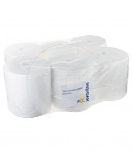 Towel paper rolls  FIX-HYGIËNE Mini coreless cellulose, 300m - 12 rolls