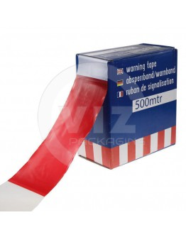 Barrier tape red-white 75mm/500m