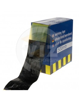 Barrier tape yellow-black 75mm/500m