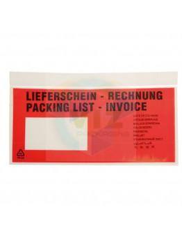 Documenthoezen 1/3 A4 meertalig  1.000 stuks
