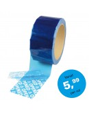 """Security Tape 50mm x 50mtr BLAUW tekst """"OPENED"""" Tape"""