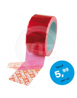 Security tape red