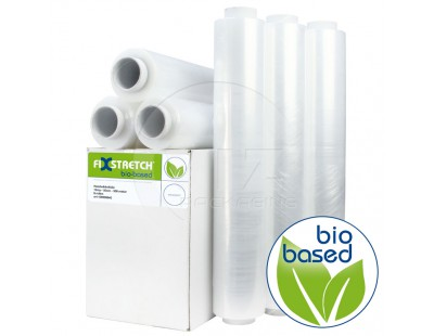 Hand stretch film 12my Fixstretch Biobased Blown Stretch film rolls