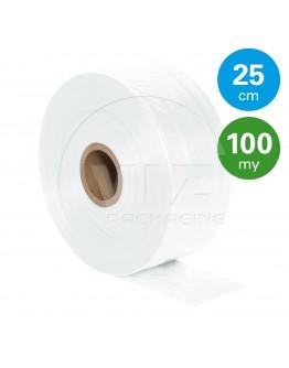 Tube film roll 100µ, 25cm x 525m