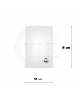 Flat poly bags LDPE, 10x15cm, 50my - 4000x