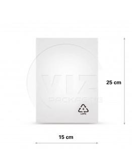 Flat poly bags LDPE, 15x25cm, 50my - 4000x